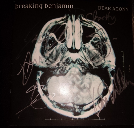 Breaking Benjamin Signed CD 2015-05-18