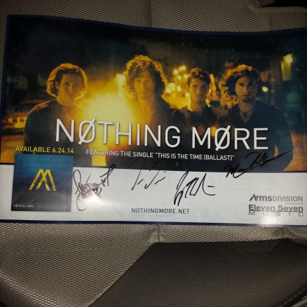 Nothing More Signed Poster 2014-06-19